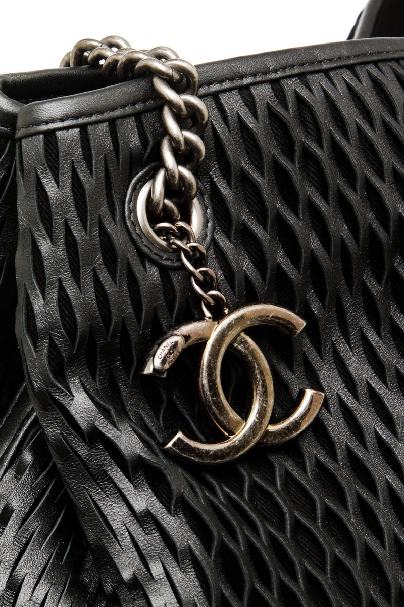 Chanel Black Leather XL Cabas Tote Bag
