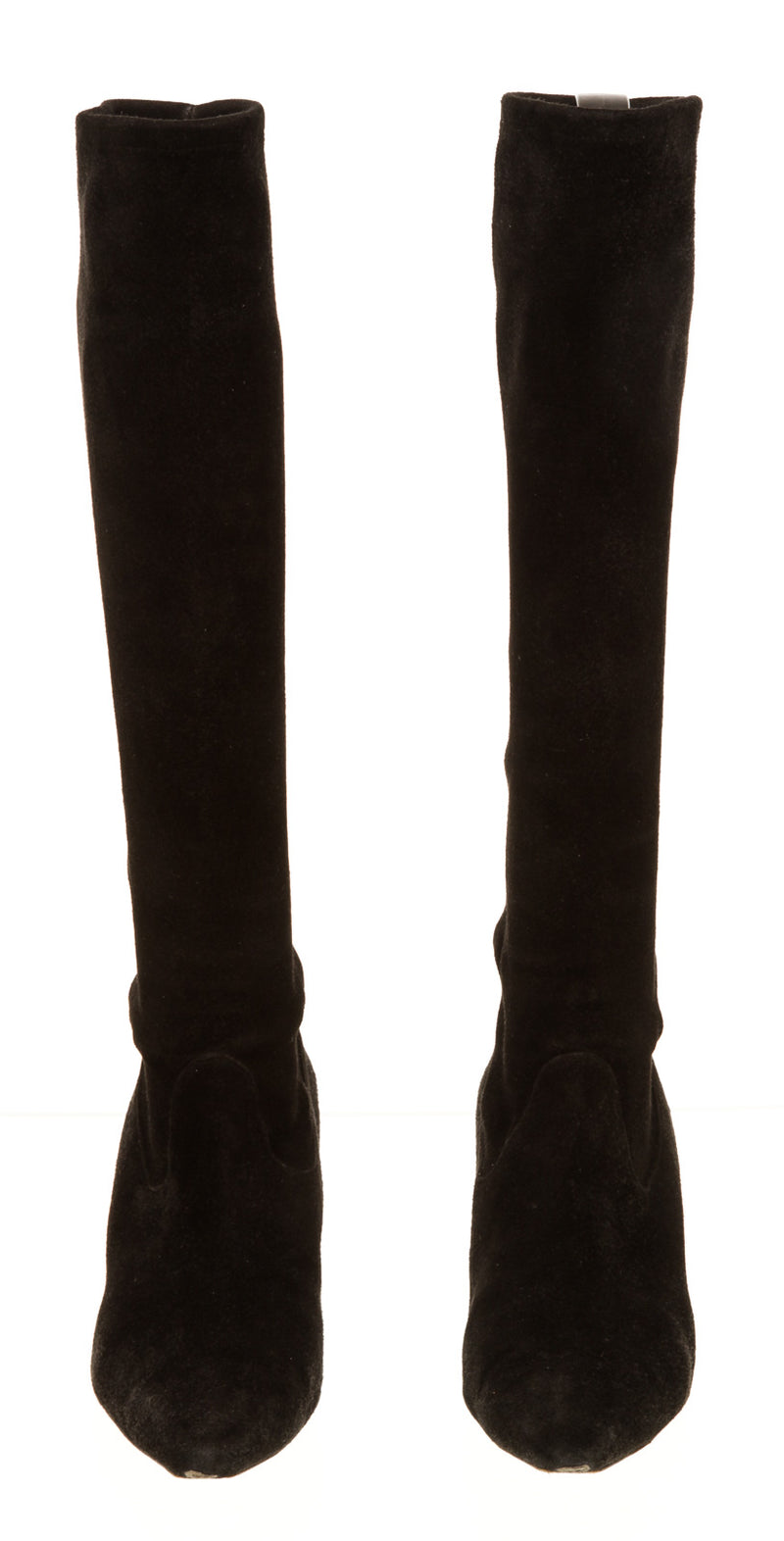 Manolo Blahnik Black Suede Pointed Boots(39)