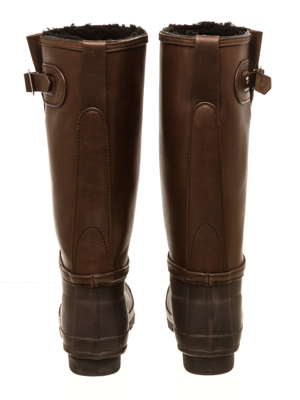 Hunter Brown Leather Wellington Boots (37)