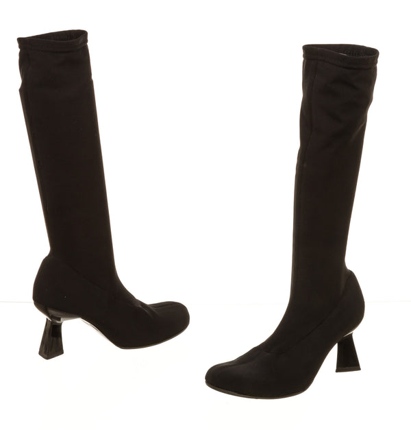 Robert Clergerie Black Knee High Sock Boots (Size 10)