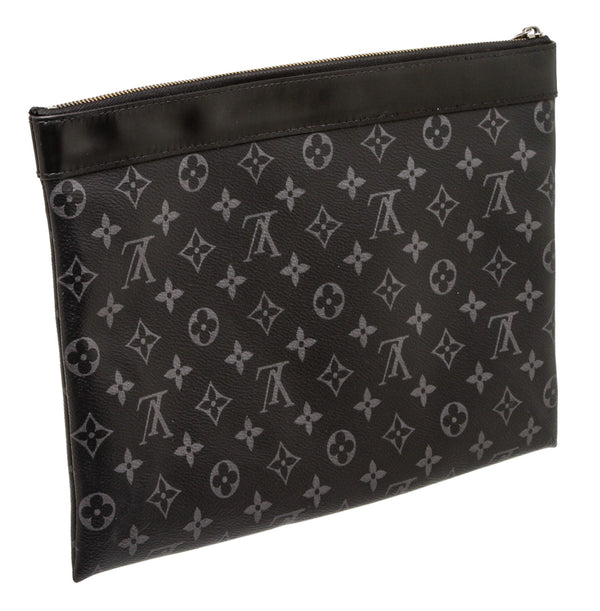 Louis Vuitton Black and Gray Monogram Eclipse Discovery Pochette