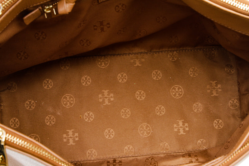 Tory Burch Tan Leather Tote Bag