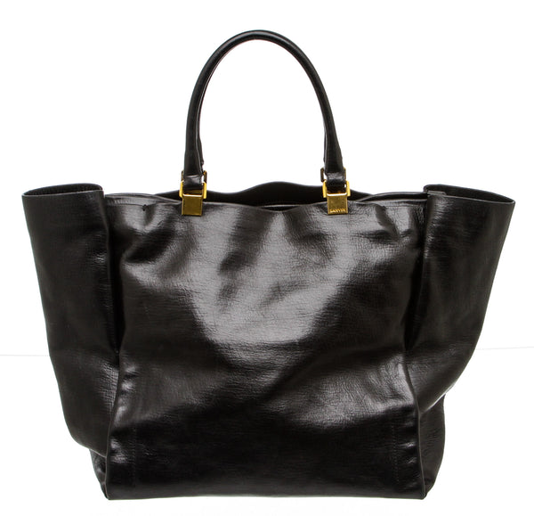 Lanvin Black Leather Large Tote Bag