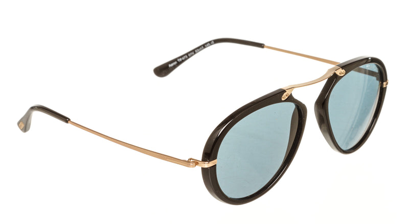 Tom Ford Aaron TF473 01V Blue and Rose Gold Sunglasses