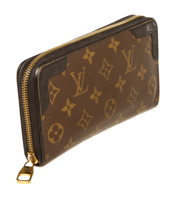 Louis Vuitton Monogram Brown Retiro Zip around Wallet