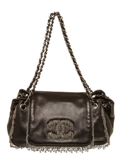Chanel Black Chain Fringe CC Flap