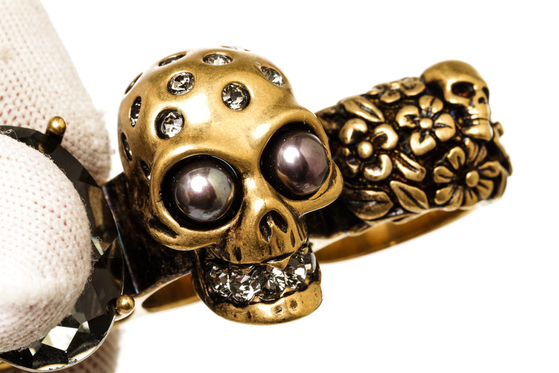 Alexander McQueen Gold 4 Knuckle Duster
