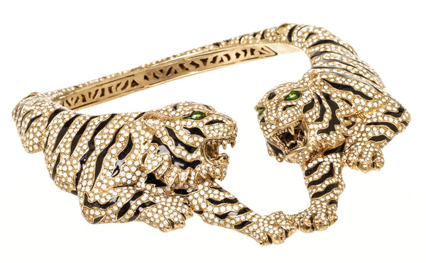 Roberto Cavalli Tiger Green Eyes Choker