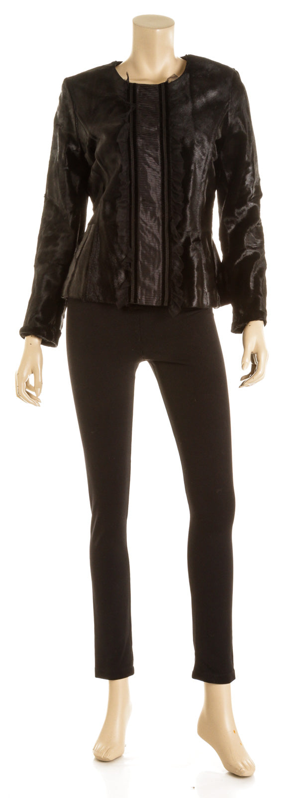 Escada Black Pony Hair Jacket (Size 38)