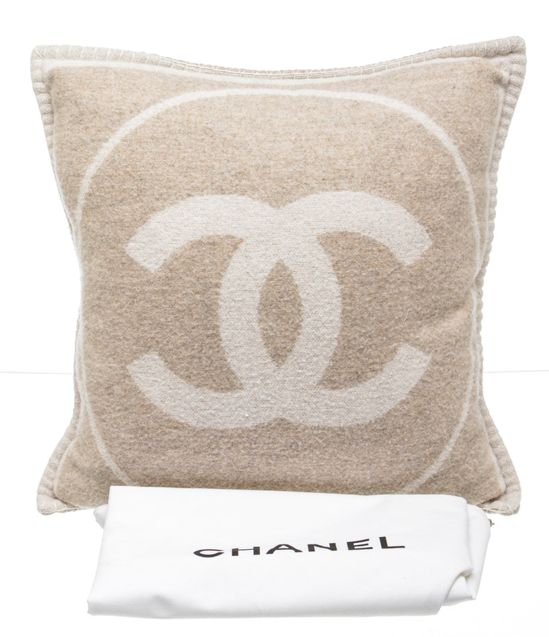 Chanel Beige and Cream Wool and Cashmere Pillow (2 of 2)