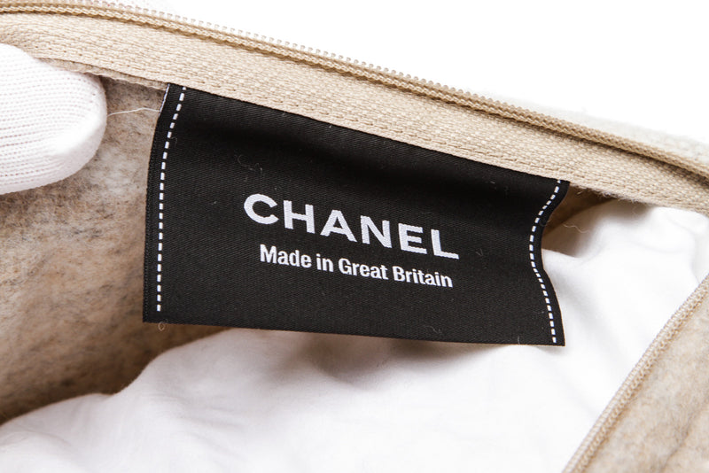 Chanel Beige and Cream Wool and Cashmere Pillow (1 of 2)
