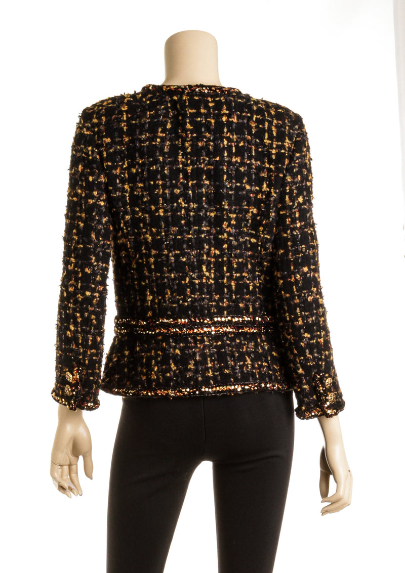 Chanel Multi Colored Tweed Jacket ( Size 36)