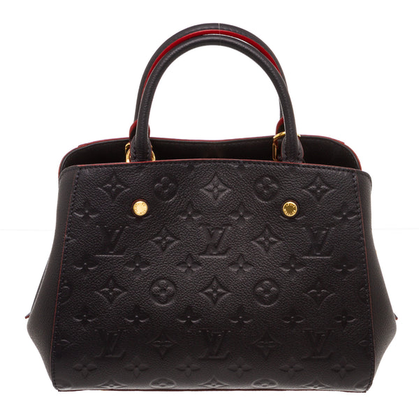 Louis Vuitton Navy Blue Empreinte Montaigne BB Satchel