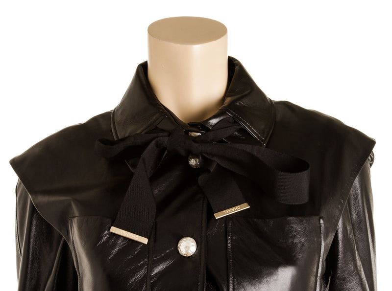 Chanel Black Pearl Button Jacket ( Size 36)