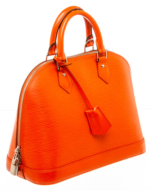 Louis Vuitton Orange Epi Alma PM Handbag