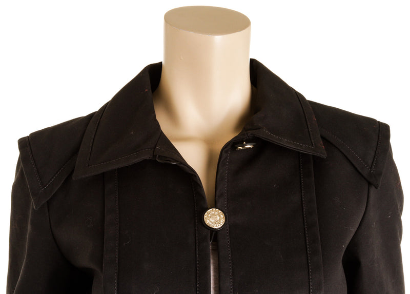 Chanel Black Camilla Button Jacket ( Size 38 )