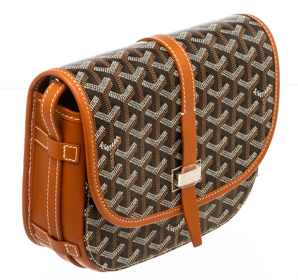 Goyard Black/Brown Goyardine Belvedere 2 PM Shoulder Bag