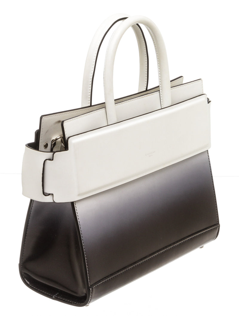Givenchy Black and White Ombre Horizon Satchel
