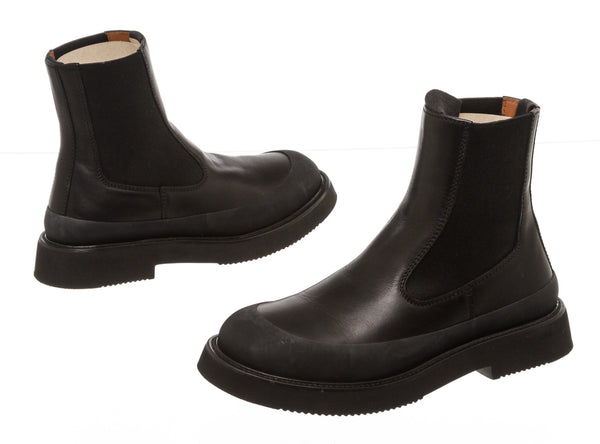 Celine Black Leather 'Chelsea' Boots (Size 6.5)