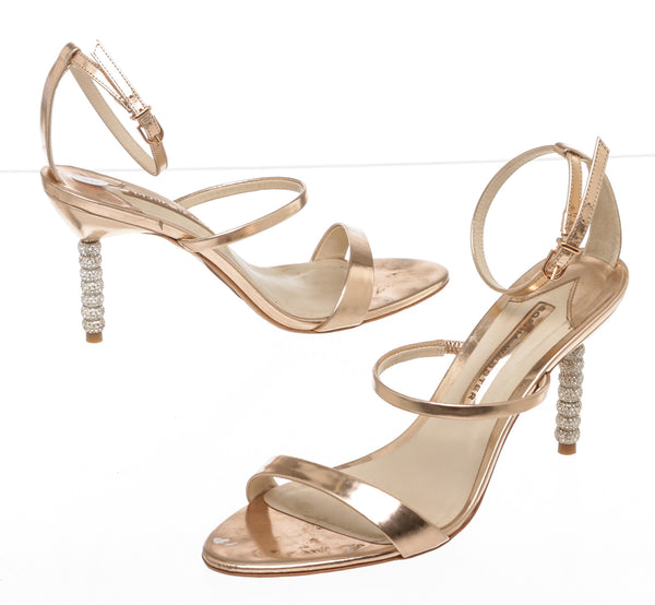 Sophia Webster Metallic Rose Gold 'Rosalind' Sandals (Size 39)
