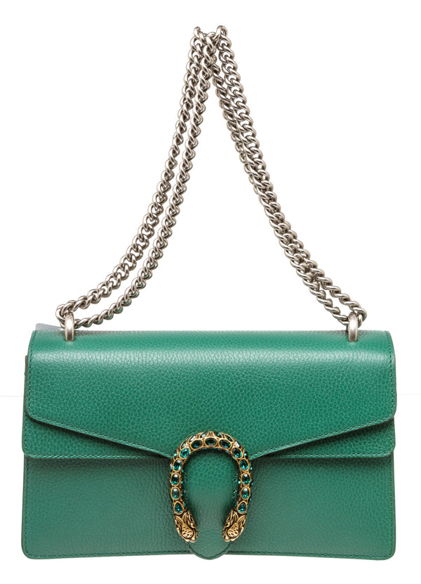 Gucci Green Dionysus Jeweled Gold Hardware Handbag