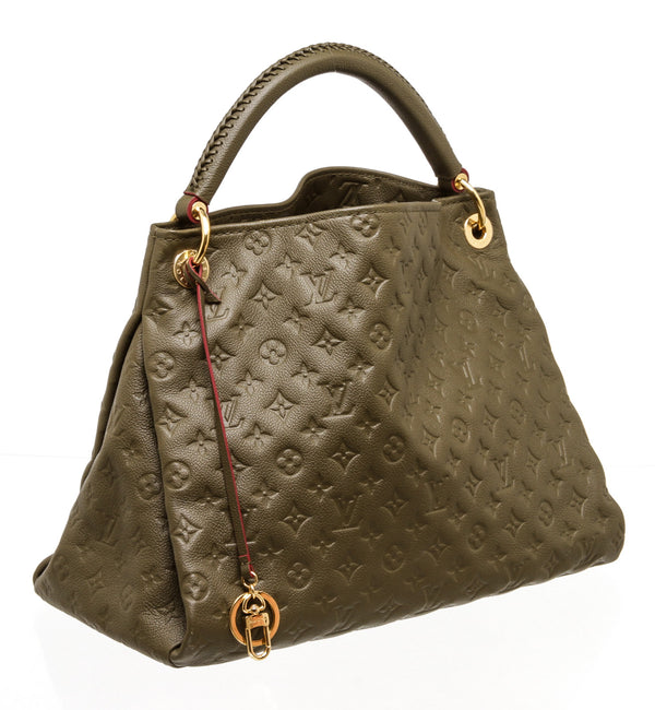 Louis Vuitton Olive Green Empriente Braided Artsy MM Hobo