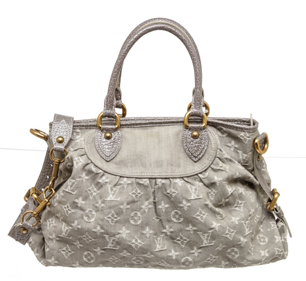 Louis Vuitton Neo Cabby Gray Denim MM Shoulder Bag
