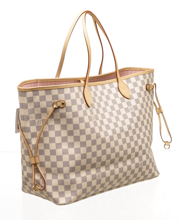 Louis Vuitton Azur Damier Rose Ballerine Neverfull GM