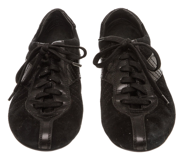 Christian Dior Black Suede Sneakers (Size 38)