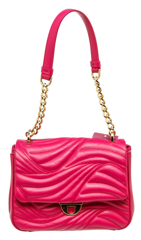 Ferragamo Hot Pink Lexi Quilted Flap Bag