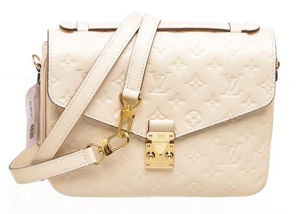 Louis Vuitton Cream Empreinte Metis Shoulder Bag