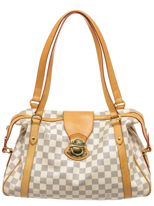 Louis Vuitton Cream & Blue Stresa Azur Damier GM Handbag