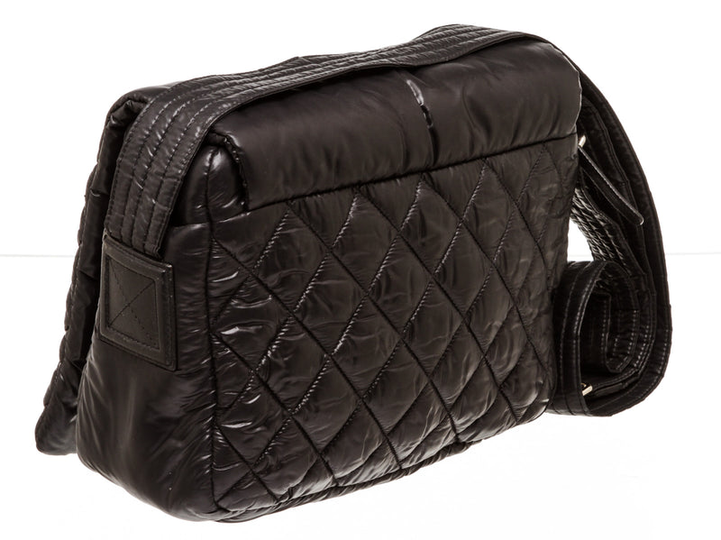 Chanel Small Black Nylon Cocoon Messenger Flap Bag