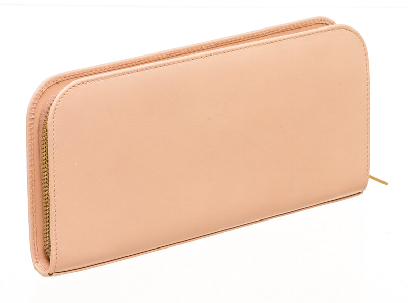 Saint Laurent Pink Smooth Leather Zip Around Wallet