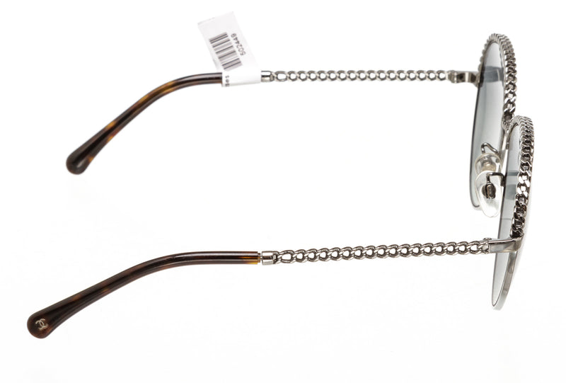 Chanel Silver & Gray Chainlink Sunglasses