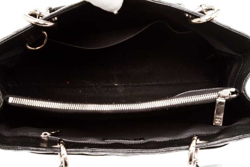 Chanel Black Caviar Leather GST Shopper Tote