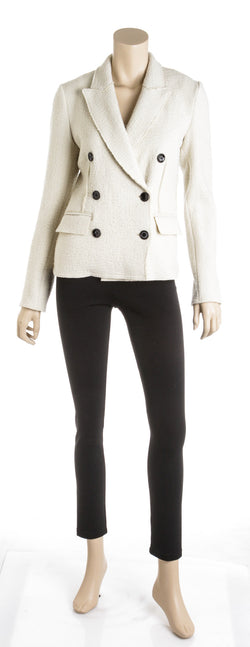 Isabel Marant Cream Wool Long Sleeve 'Dalena' Jacket (Size 36)