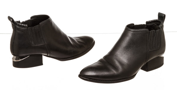 Alexander Wang Black Leather Oxford Cut Out Boots ( Size 38)