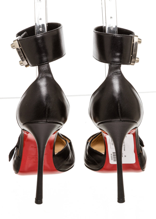 Christian Louboutin Black 120 Fetish Pumps (Size 36)