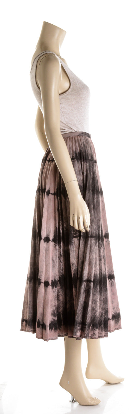 Christian Dior Pink & Gray Tie Dye Pleated Maxi Dress (Size 4)