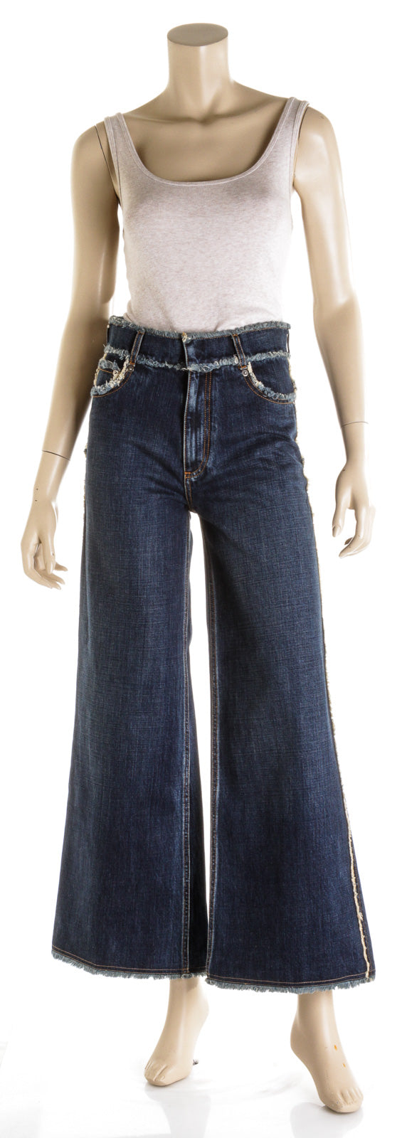 Christian Dior Blue Wide Leg Denim Jeans (Size 34)
