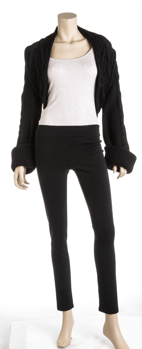 Valentino Black Wool Long Sleeve Bolero (Size S)