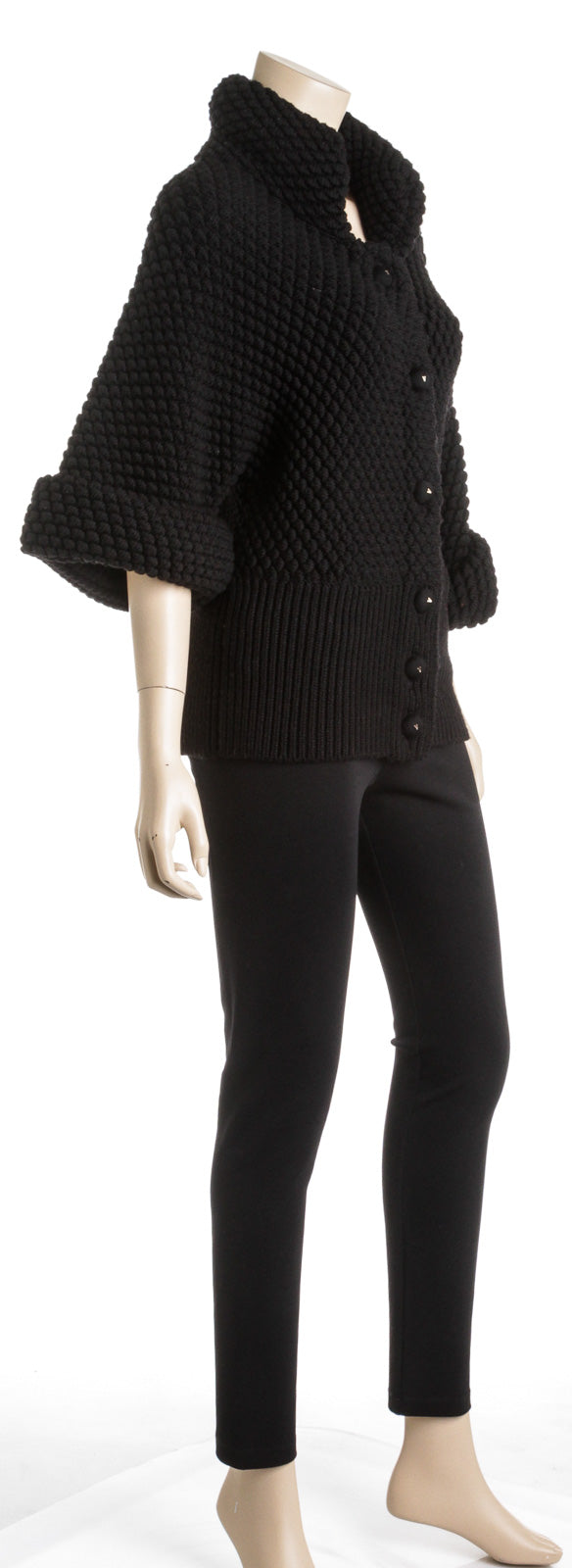 Valentino Black Wool Chunky Knit Sweater (Size S)