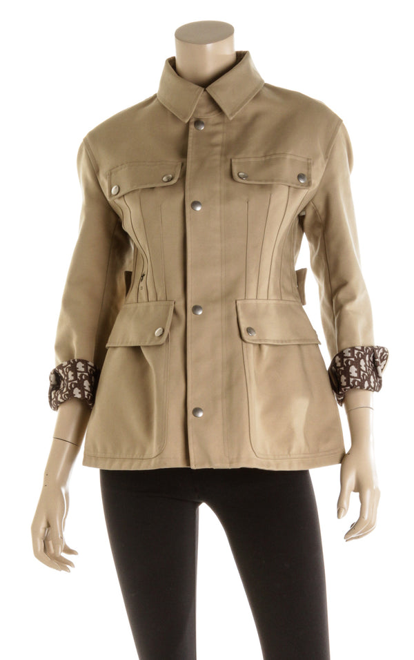 Christian Dior Tan Four Pocket Jacket ( Size 4 )