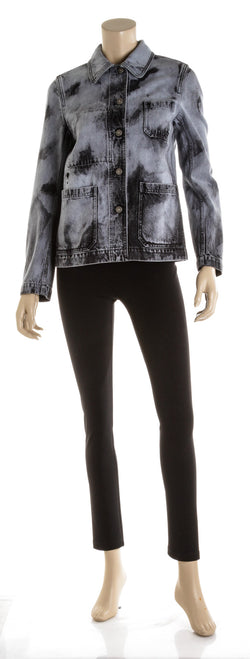 Christian Dior Light & Dark Blue Denim Shirt Jacket ( Size 36 )