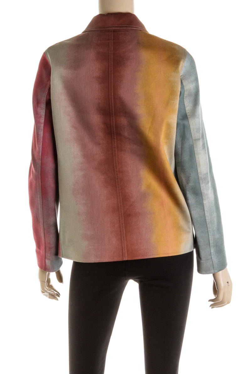 Christian Dior Multi Colored Jacket Shirt ( Size 36 )