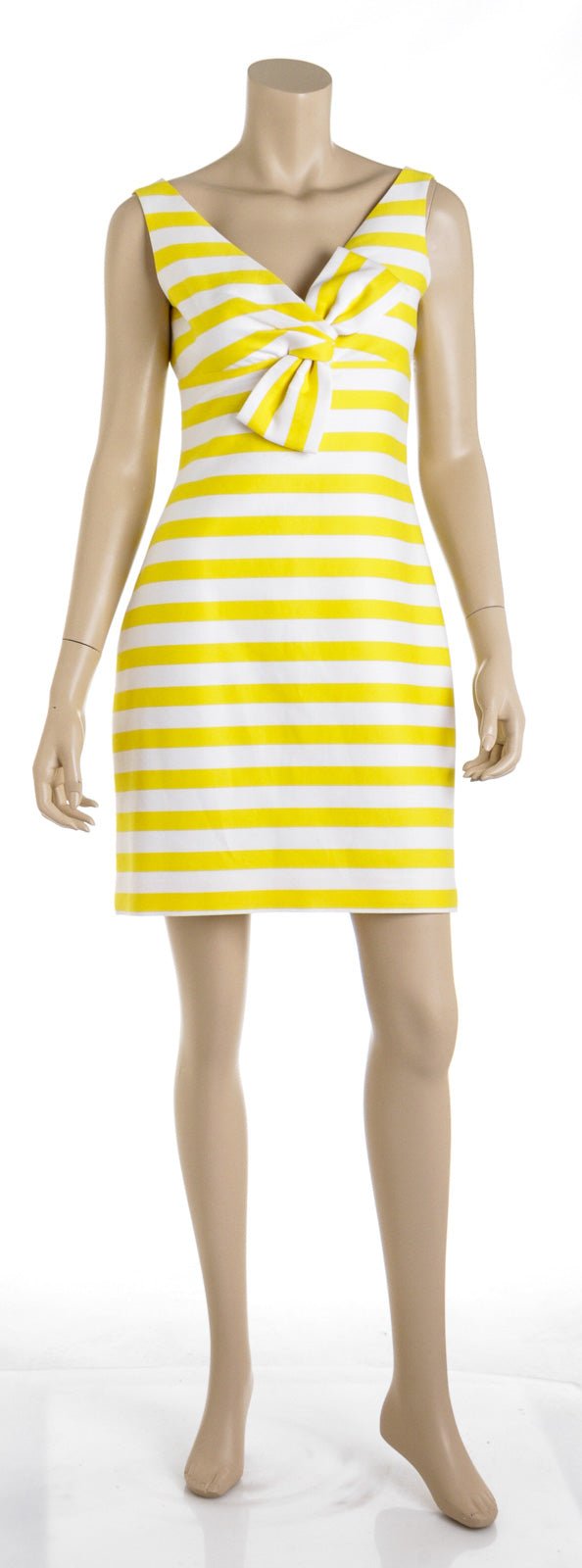 Kate Spade New York Silverscreen Sleeveless Striped Bow Dress (Size 4)