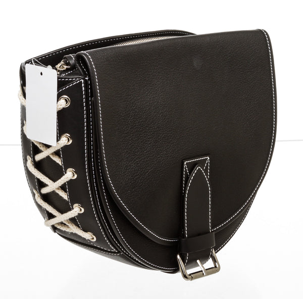 JW Anderson Black Leather 'Bike' Shoulder Bag