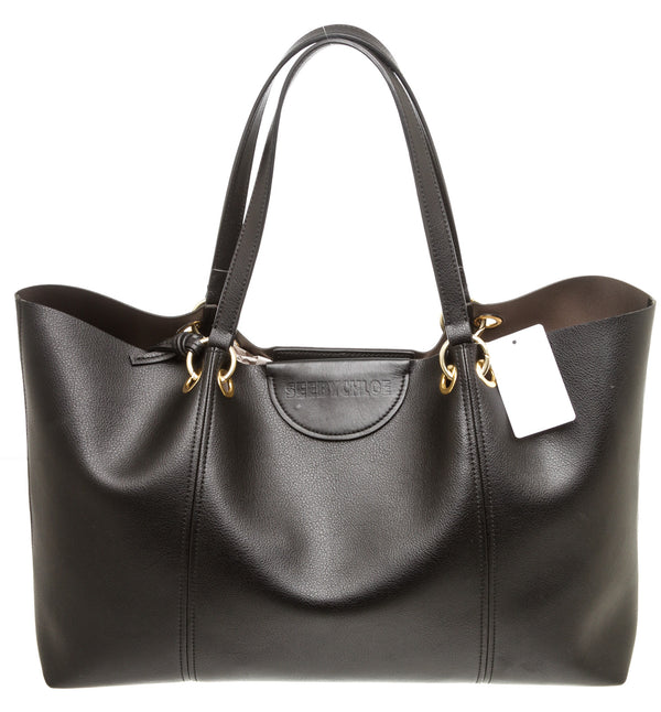 See by Chloe Black Leather 'Marty' Tote Bag
