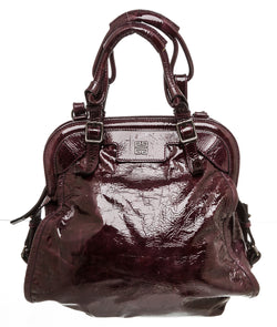 Givenchy Purple Patent Leather Satchel